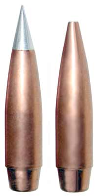 Rebated boattail bullets